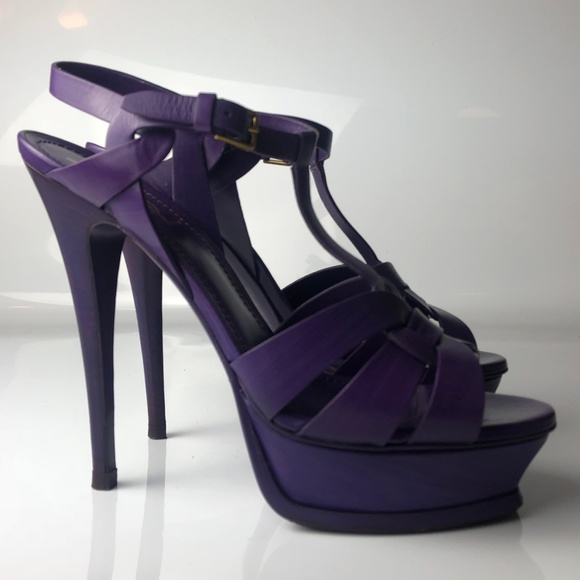 220cf782 YSL Yves Saint Laurent Tribute Purple Sandals 39